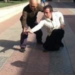 Enes en travail avec le professeur Zhong, premier disciple de Maître Ma